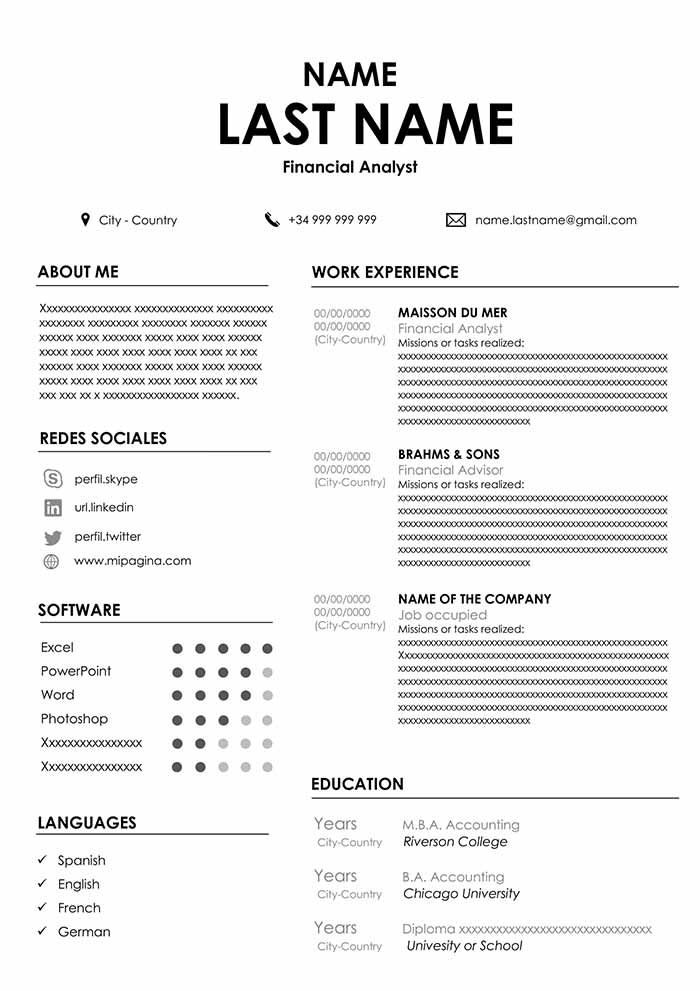 accountant resume sample for word free cvs latest format personal information clean Resume Latest Resume Format For Accountant