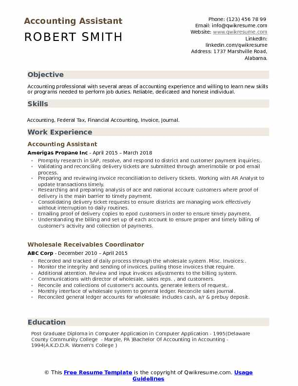 accounting assistant resume samples qwikresume accountant job description for pdf Resume Accountant Job Description For Resume