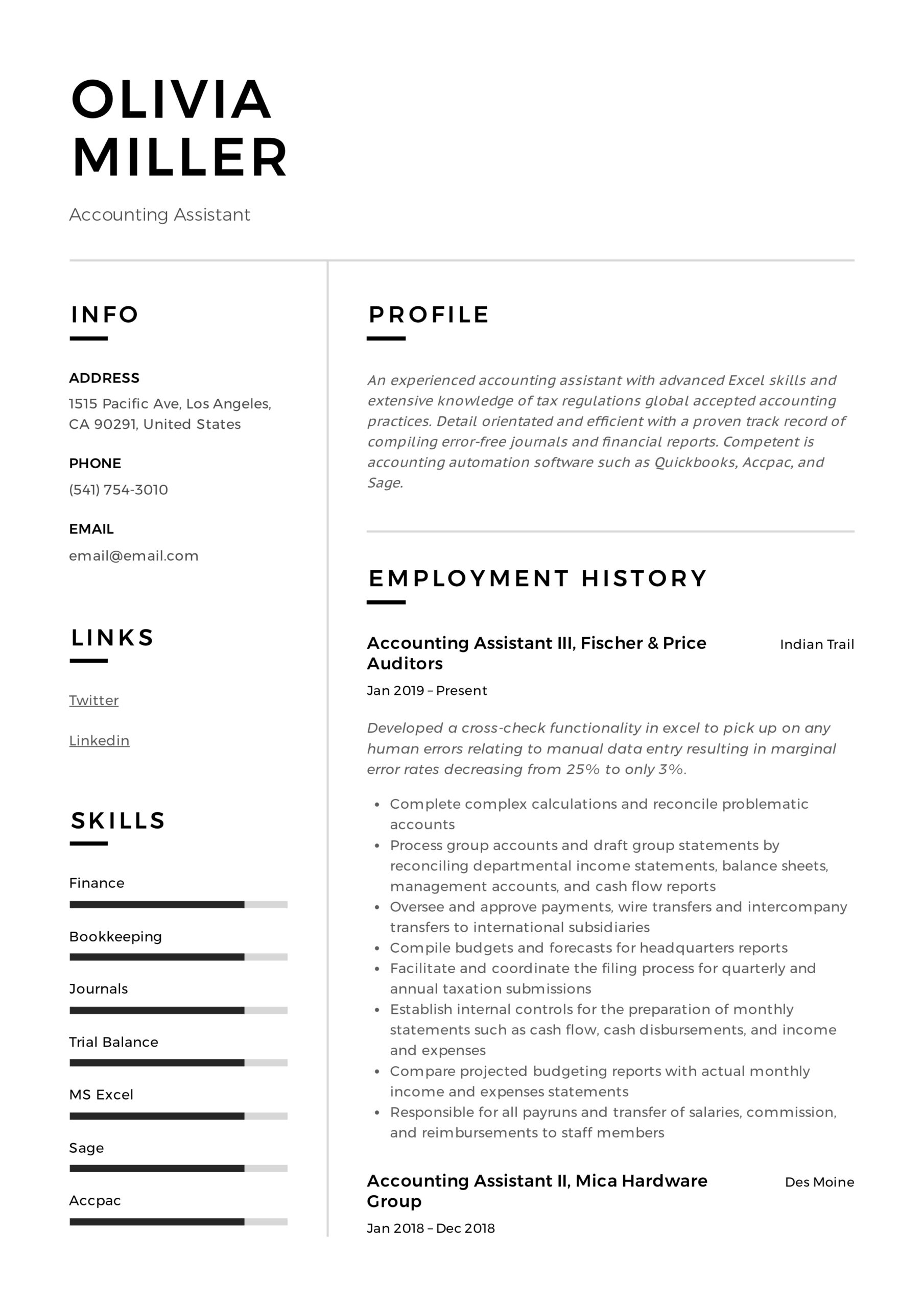 accounting assistant resume writing guide examples pdf sample summary professional Resume Sample Accounting Resume Summary
