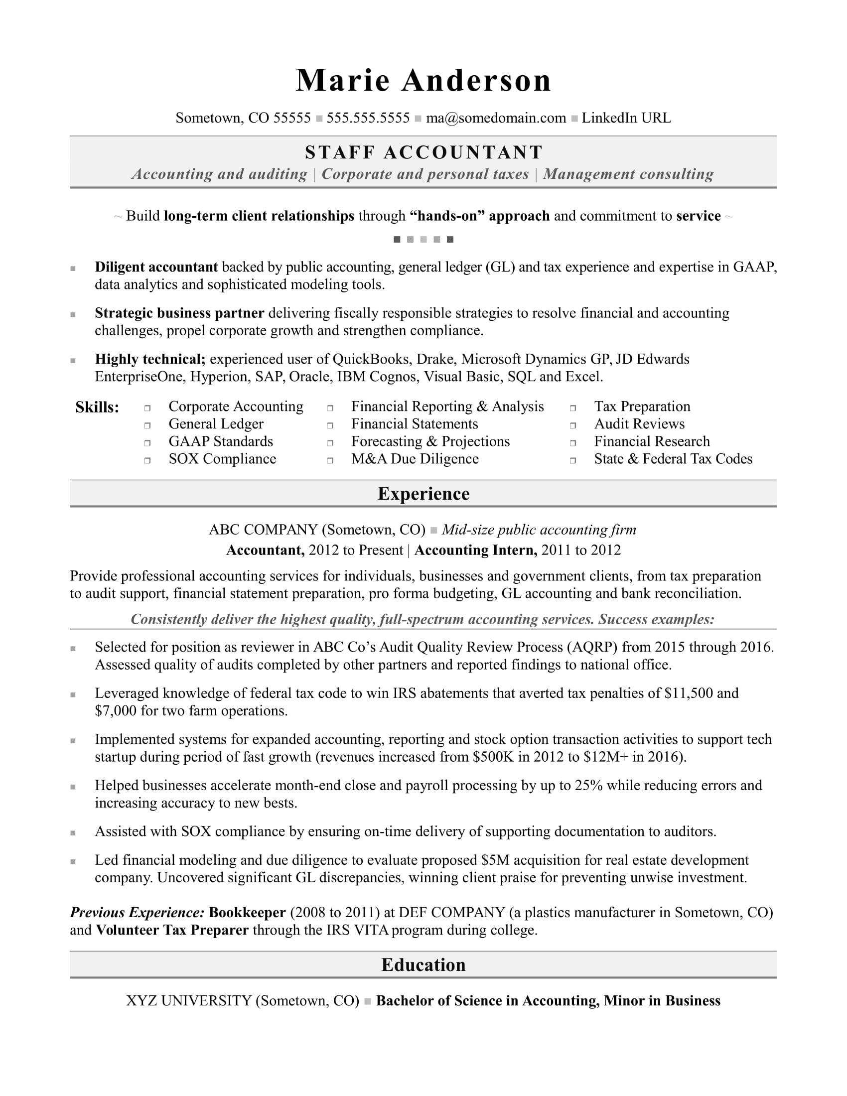 accounting resume sample monster senior staff accountant housekeeping manager pharmacy Resume Senior Staff Accountant Resume Sample