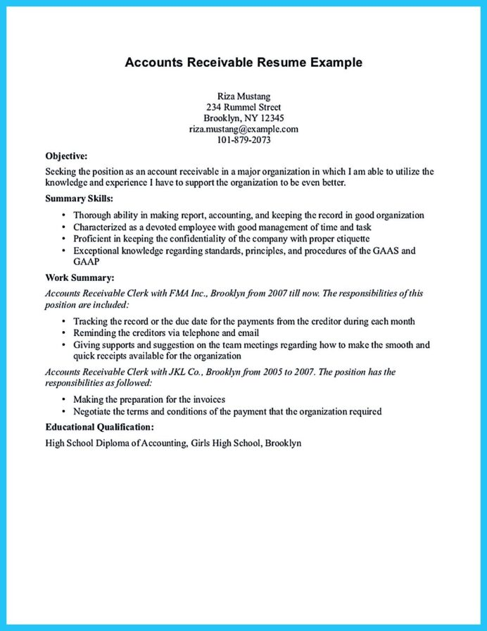 accounts receivable resume presents both skills and also the strengths of candidate in Resume Good Strengths For Resume