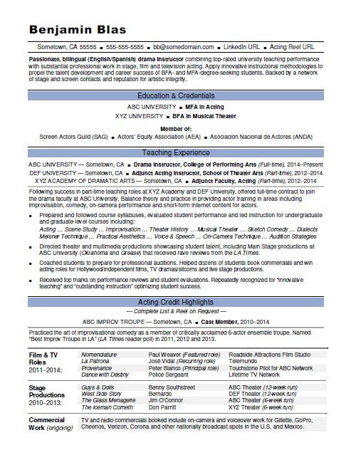 acting resume monster actor model template instructor release engineer praise and worship Resume Actor Model Resume Template