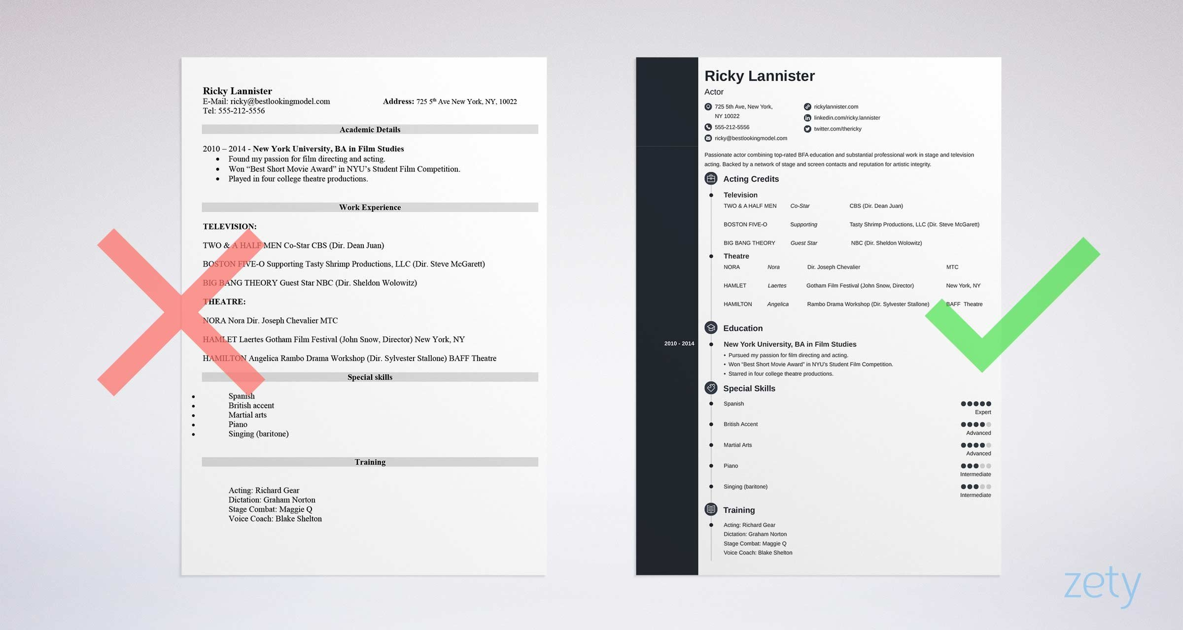 acting resume template tips examples for actors actor model sample member service Resume Actor Model Resume Template