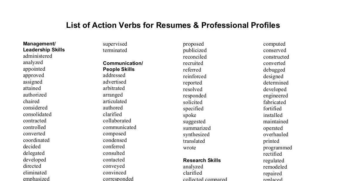 action verbs for resumes dochub good resume pdf healthcare data analyst law clinic Resume Good Action Verbs For Resume