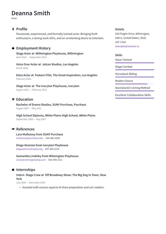 actor resume examples writing tips free guide io for acting audition without experience Resume Resume For Acting Audition Without Experience