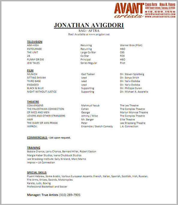 actor resume nancy chartier studios for acting audition without experience fake Resume Resume For Acting Audition Without Experience