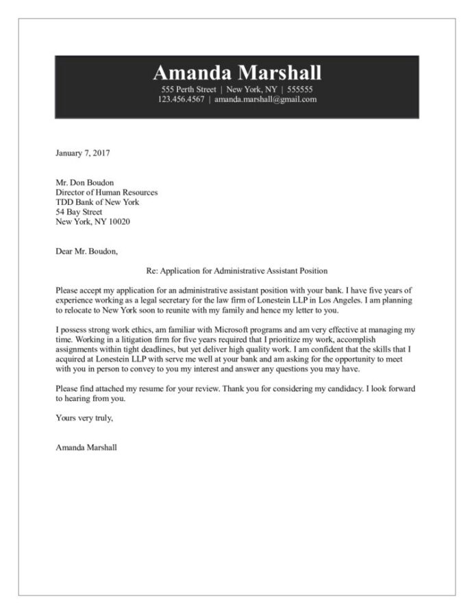 administrative assistant cover letter example of resume for genius login sample excel Resume Example Of Resume Cover Letter For Administrative Assistant