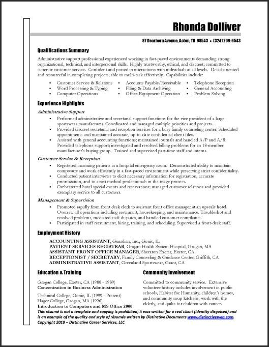 administrative assistant resume job samples sample templates executive examples free of Resume Executive Assistant Resume Examples Free