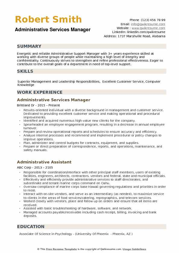 administrative services manager resume samples qwikresume professional service phoenix Resume Professional Resume Service Phoenix