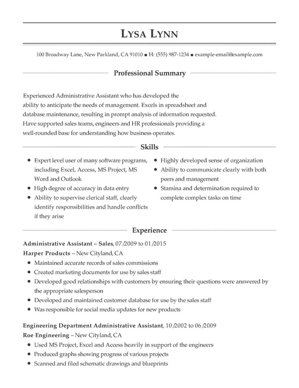 administrative support combination resume samples examples format templates help sample Resume Combination Resume Sample