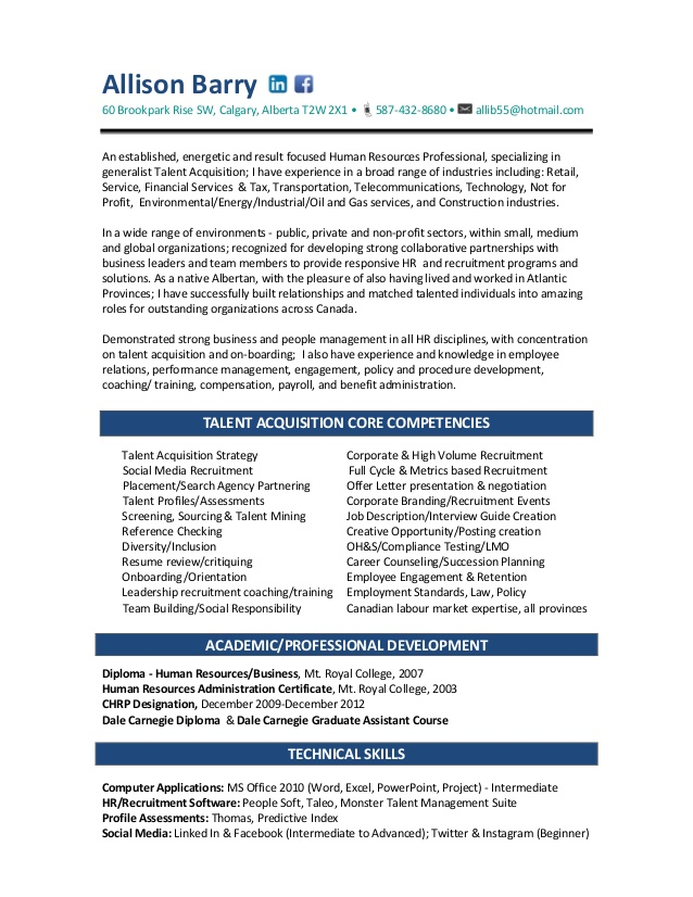allison recruiter resume talent acquisition specialist preferred format band template ats Resume Talent Acquisition Specialist Resume