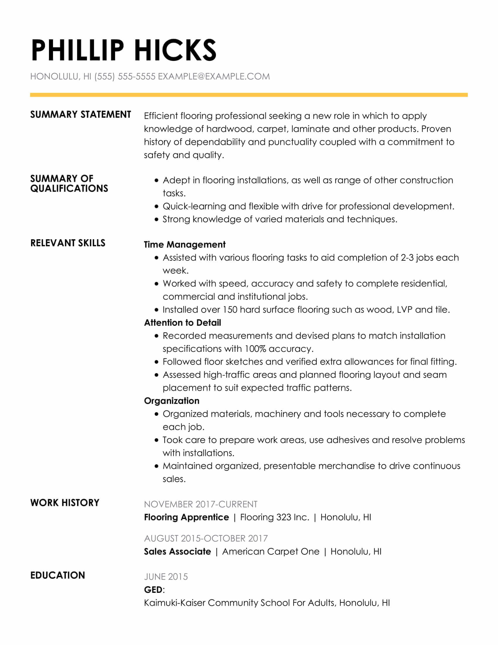 amazing construction resume examples livecareer summary introduction for insightful func Resume Summary Introduction For Resume