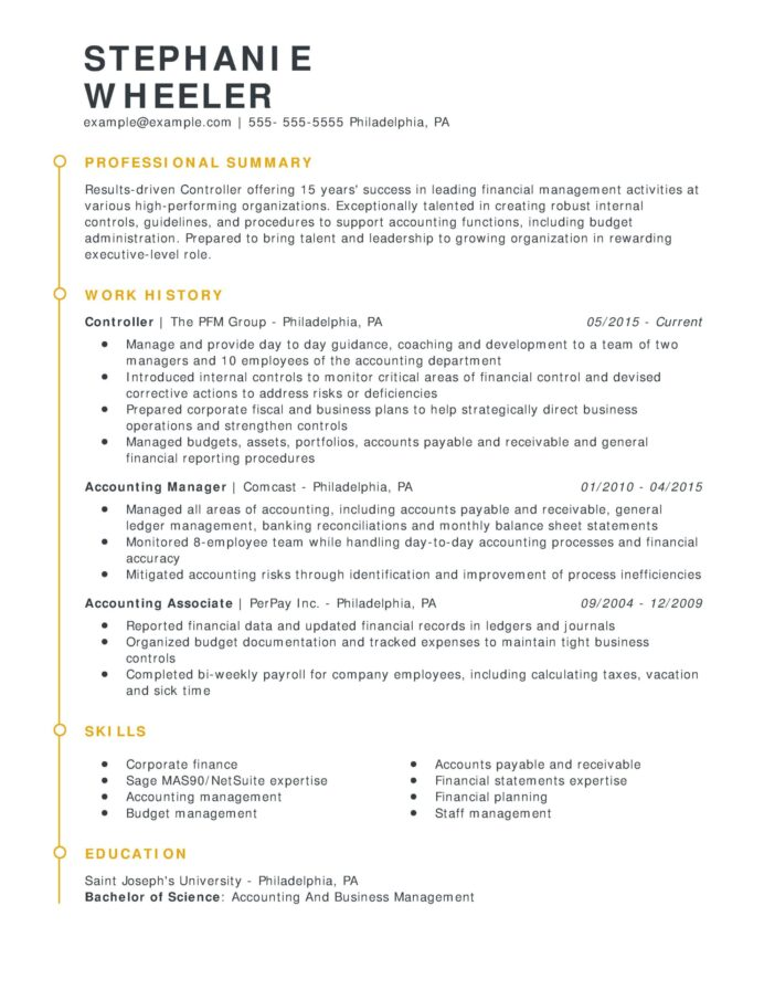 amazing finance resume examples livecareer chrono functional controller esteemed scaled Resume Chrono Functional Resume