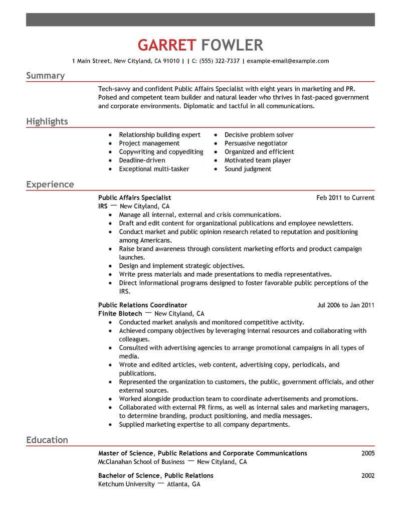 amazing government military resume examples livecareer writing for positions public Resume Resume Writing For Government Positions