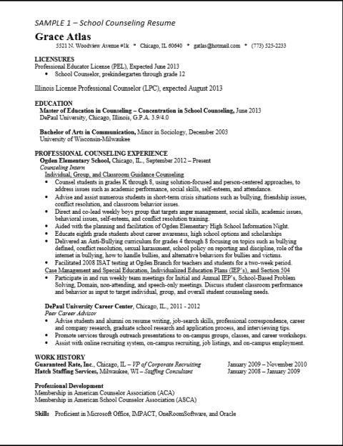 asca school counselor resume sample give ideas and provide as references your own ther Resume Entry Level Mental Health Counselor Resume