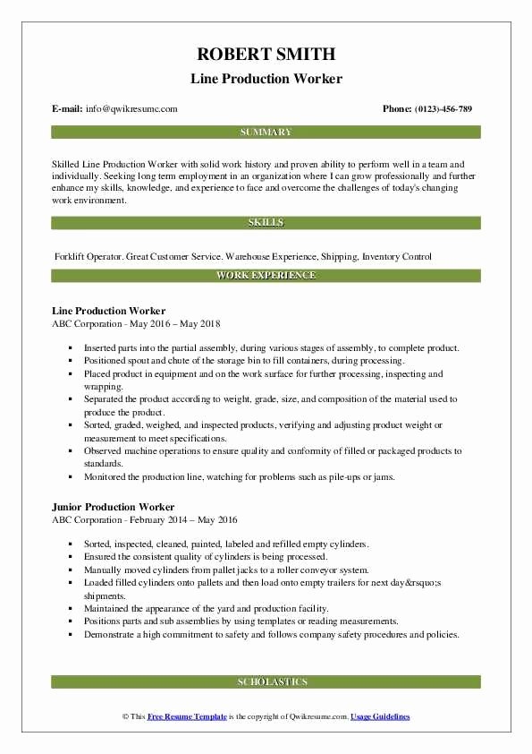 assembly line worker resume objective beautiful production elfaro inspirational samples Resume Assembly Line Worker Resume