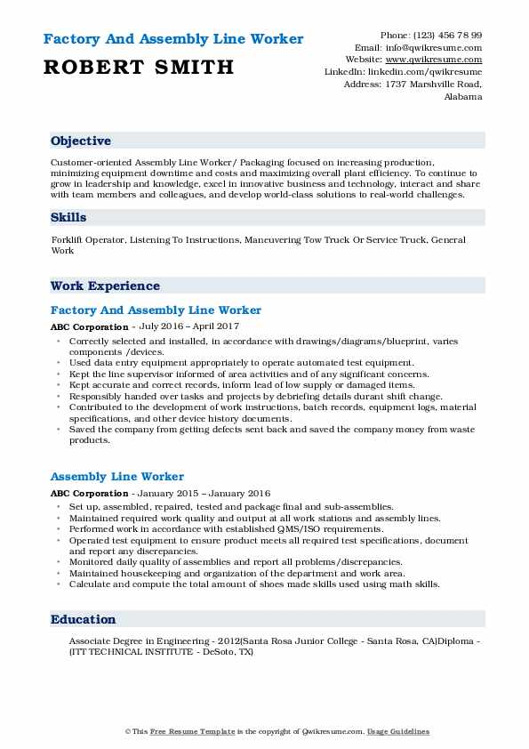 assembly line worker resume samples qwikresume pdf louis vuitton nail salon manager Resume Assembly Line Worker Resume