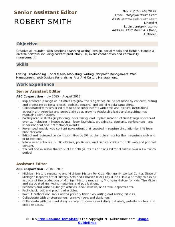 assistant editor resume samples qwikresume resumes for writers and editors pdf include Resume Resumes For Writers And Editors