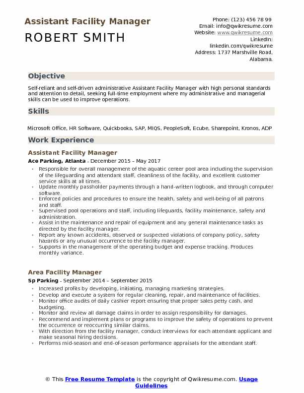 assistant facility manager resume samples qwikresume executive pdf for someone out of Resume Facility Executive Resume