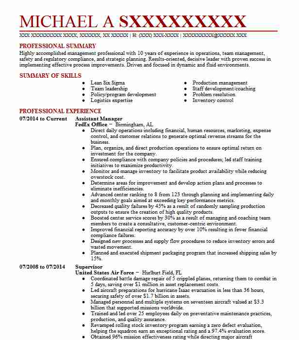 assistant manager resume example murphy gas station executive examples free law clerk Resume Gas Station Assistant Manager Resume