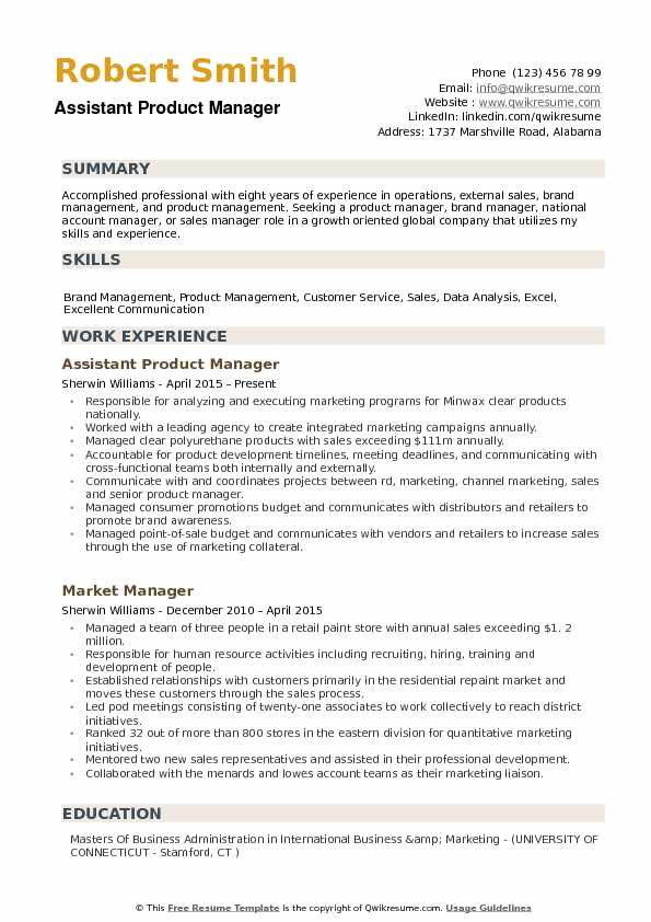 assistant product manager resume samples qwikresume for position pdf special needs child Resume Resume For Product Manager Position