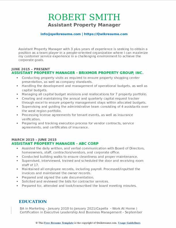 assistant property manager resume samples qwikresume pdf warehouse clerk examples cara Resume Assistant Property Manager Resume