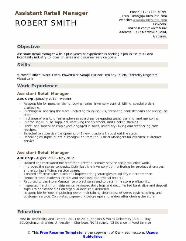 assistant retail manager resume samples qwikresume examples pdf small business owner Resume Retail Manager Resume Examples