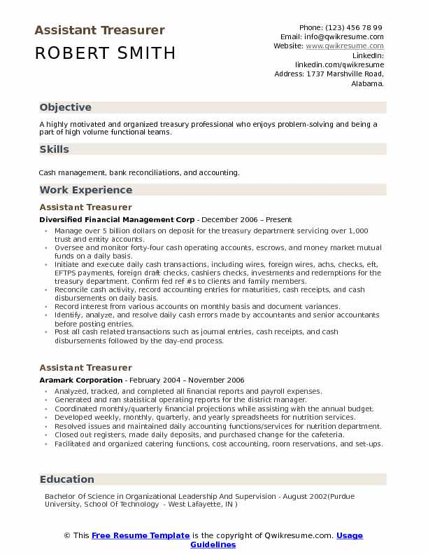 assistant treasurer resume samples qwikresume job description for pdf include performance Resume Loan Officer Resume Job Description
