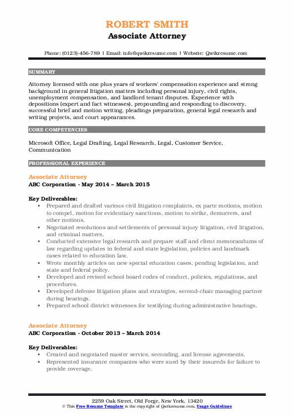 associate attorney resume samples qwikresume personal injury pdf fargo tips for writing Resume Personal Injury Attorney Resume