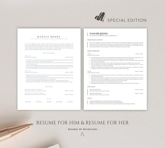 ats friendly resume templates instant two cv etsy format il 570xn dmp7 loan officer Resume Resume Format Ats Friendly