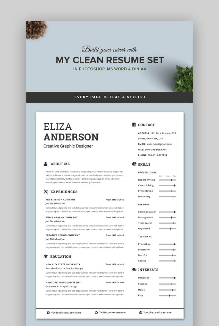 attractive eye catching resume cv templates with stylish aesthetics pretty my clean Resume Pretty Resume Templates
