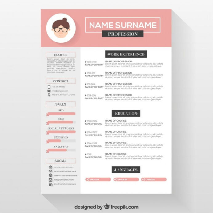 attractive resume templates free template builder example reume professional cv format in Resume Free Attractive Resume Templates