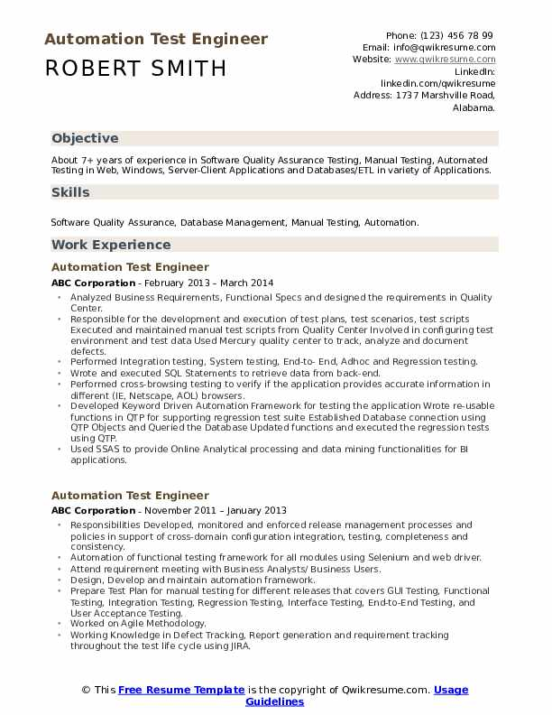 automation test engineer resume samples qwikresume format for testing pdf assistant Resume Resume Format For Testing Engineer