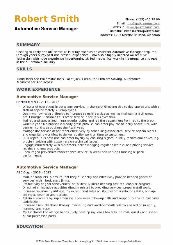 automotive service manager resume samples qwikresume auto examples pdf perfectionist Resume Auto Service Manager Resume Examples