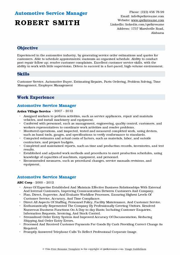 automotive service manager resume samples qwikresume auto examples pdf the best writing Resume Auto Service Manager Resume Examples