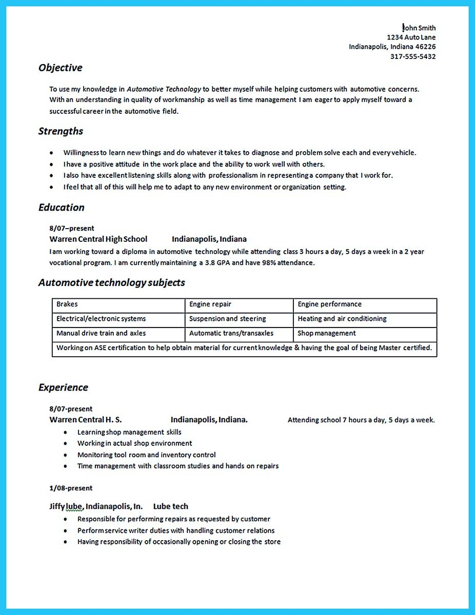 automotive technician resume examples free templates sample mortgage underwriter cover Resume Automotive Technician Resume Sample
