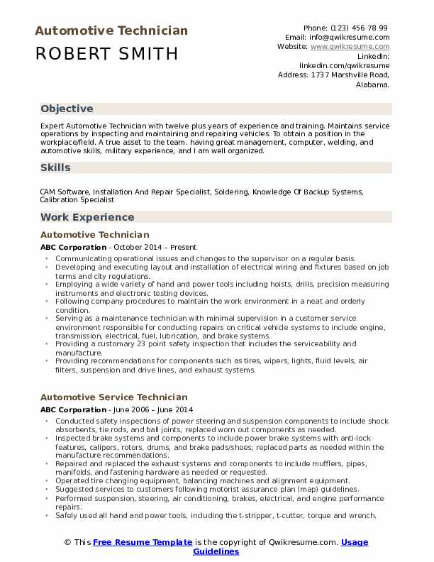 automotive technician resume samples qwikresume search pdf plumber pipefitter examples Resume Automotive Technician Resume Search