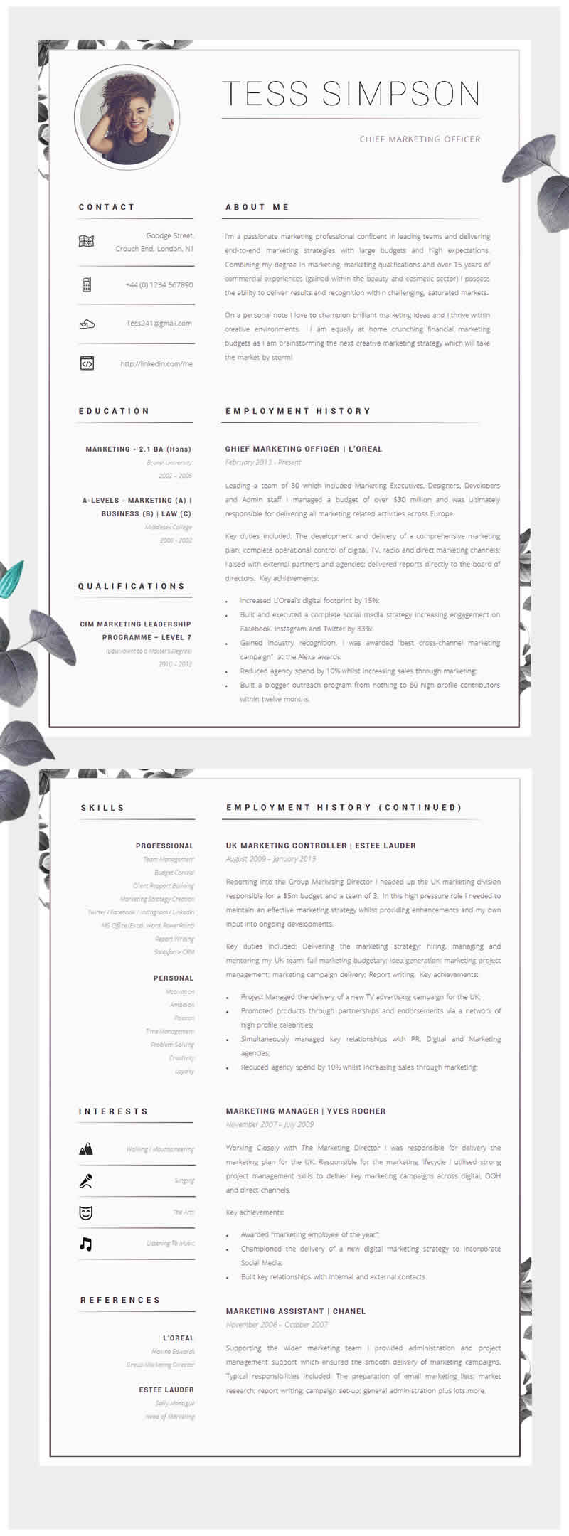 awesome examples of creative cvs resumes guru resume about sample design behavioral Resume Resume About Me Sample