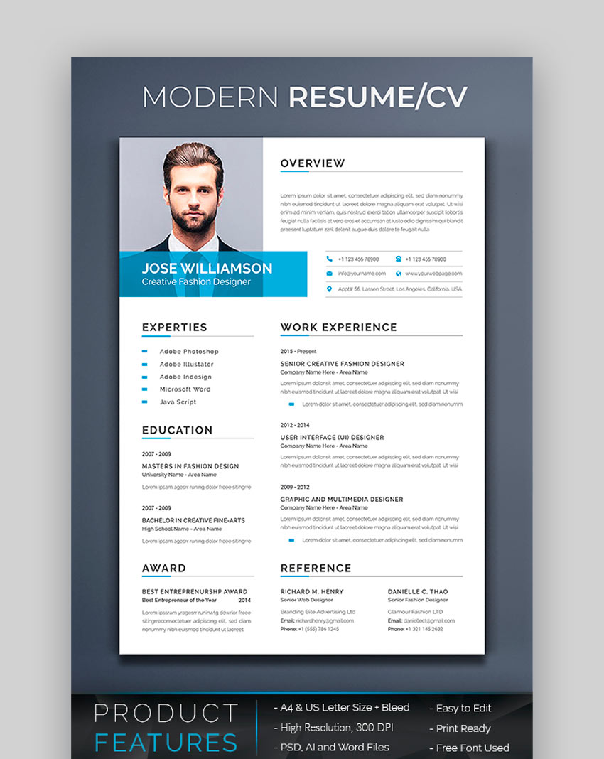 awesome resume cv templates with beautiful layout designs free attractive graphicriver Resume Free Attractive Resume Templates