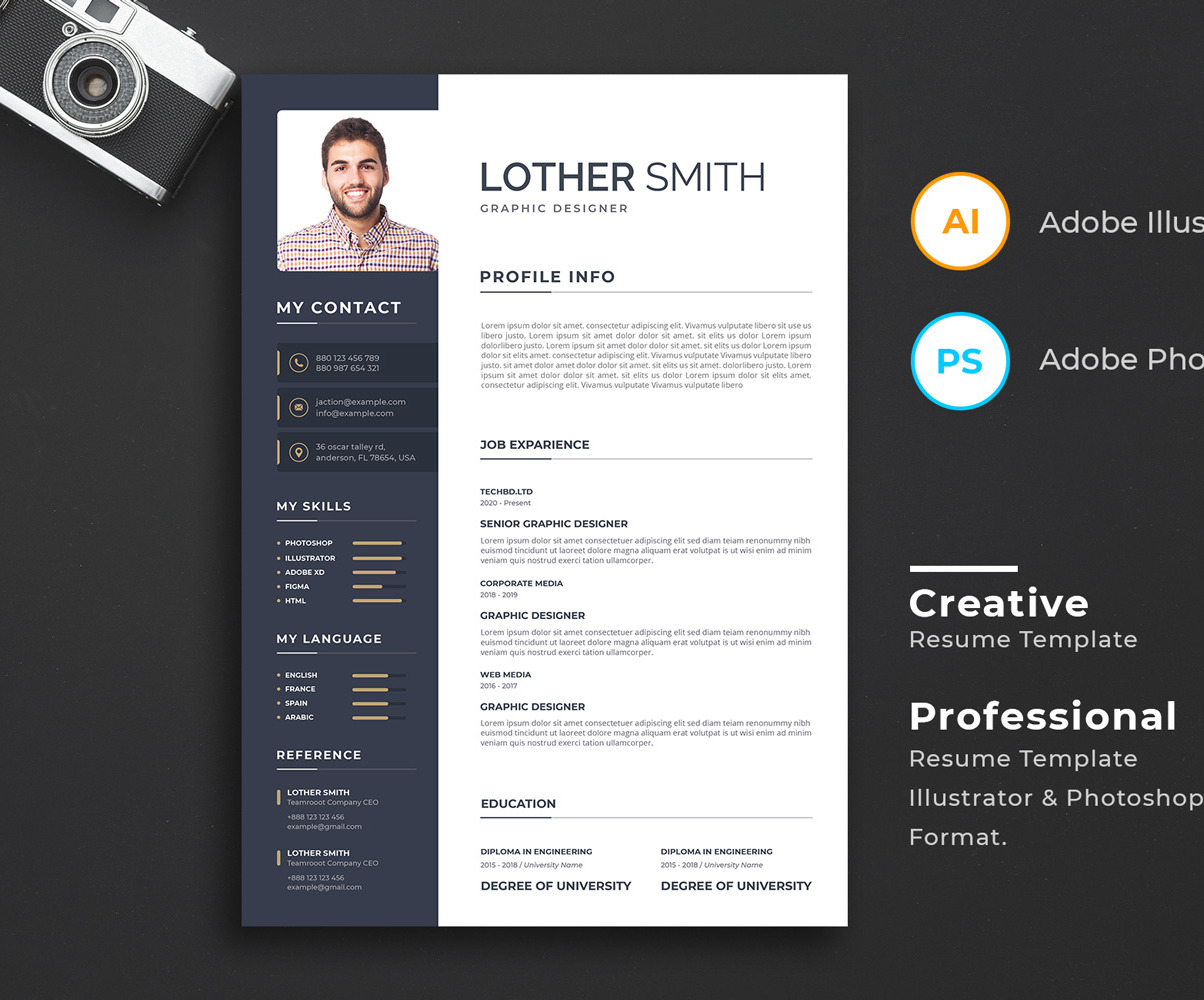 awesome resume template with cutting edge design templates professional cv original lab Resume Cutting Edge Resume Templates