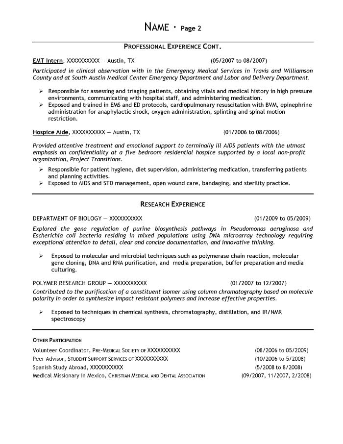 bachelor of science in biology resume student 3o library workshop labor and delivery Resume Bachelor Of Science Resume
