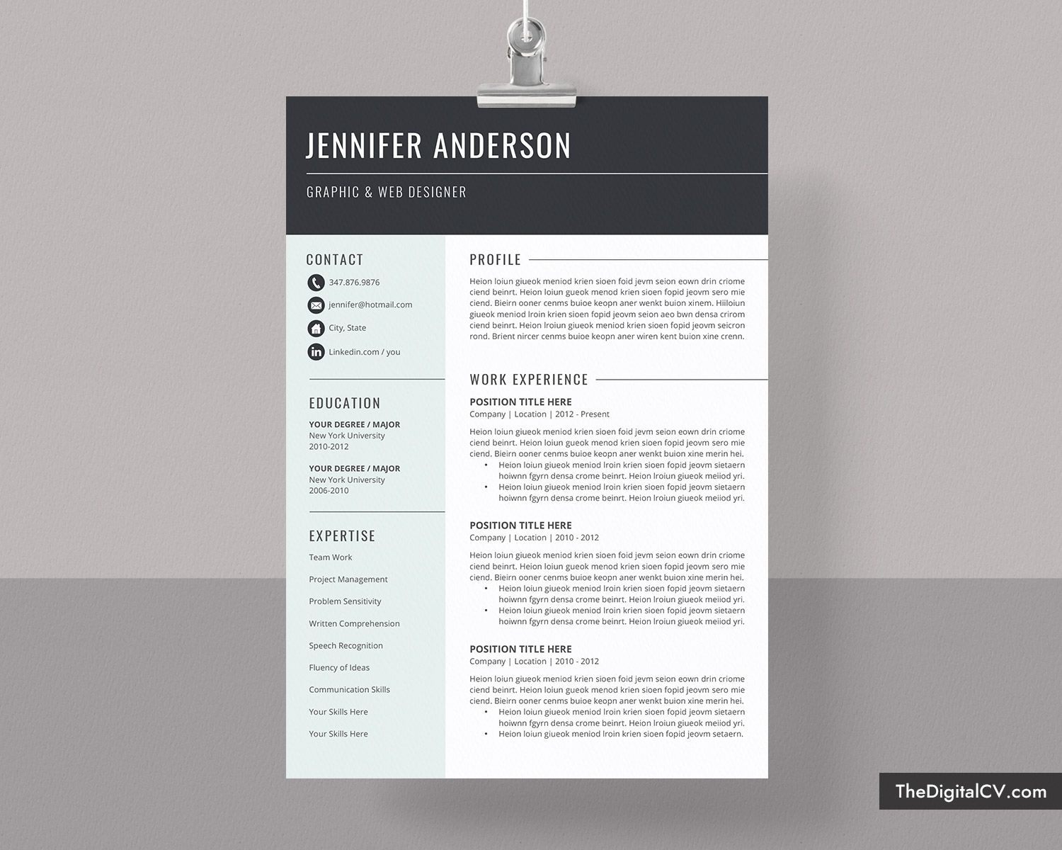 basic and simple resume template cv cover letter microsoft word free professional modern Resume Free Modern Resume Template 2020