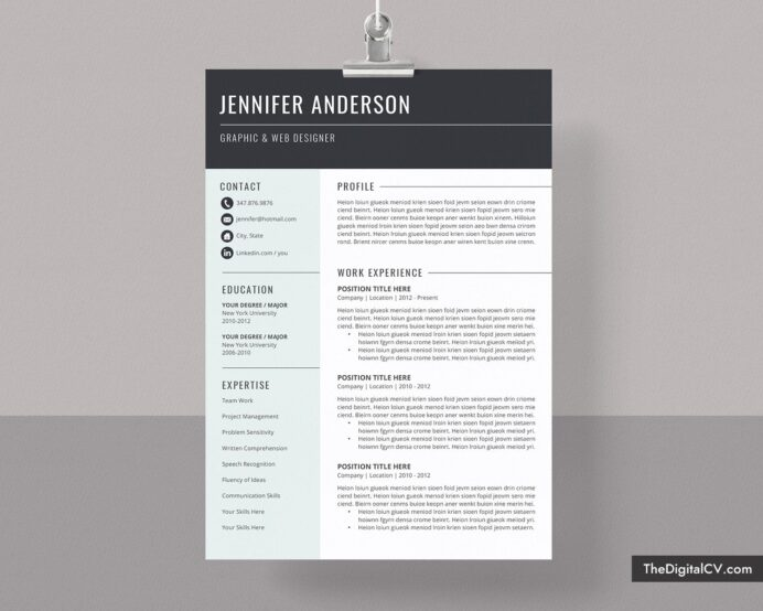 basic and simple resume template cv cover letter microsoft word res best resumes for Resume Best Resumes For 2020