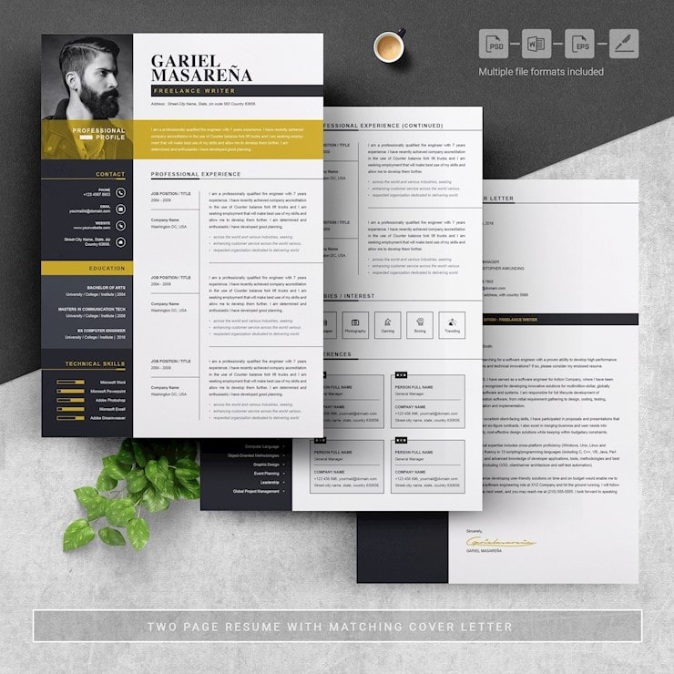 beautiful cv templates to land job hipsthetic two resume template threepages free design Resume Two Page Resume Template