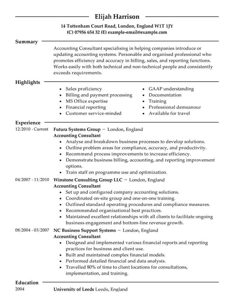 best consultant resume example livecareer business sample finance modern experience Resume Business Consultant Resume Sample