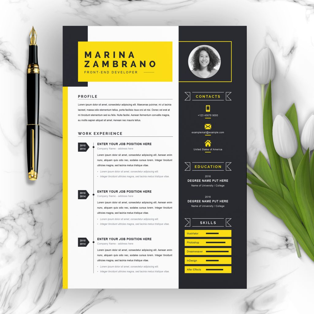 best contemporary new styles resume cv for free modern template clean professional Resume Free Modern Resume Template 2020