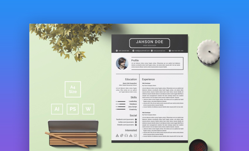 best contemporary resume cv templates new modern styles for the step elements1 office Resume The 24 Step Modern Resume