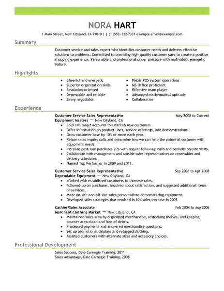 best customer service representative resume example livecareer description for Resume Customer Service Representative Description For Resume