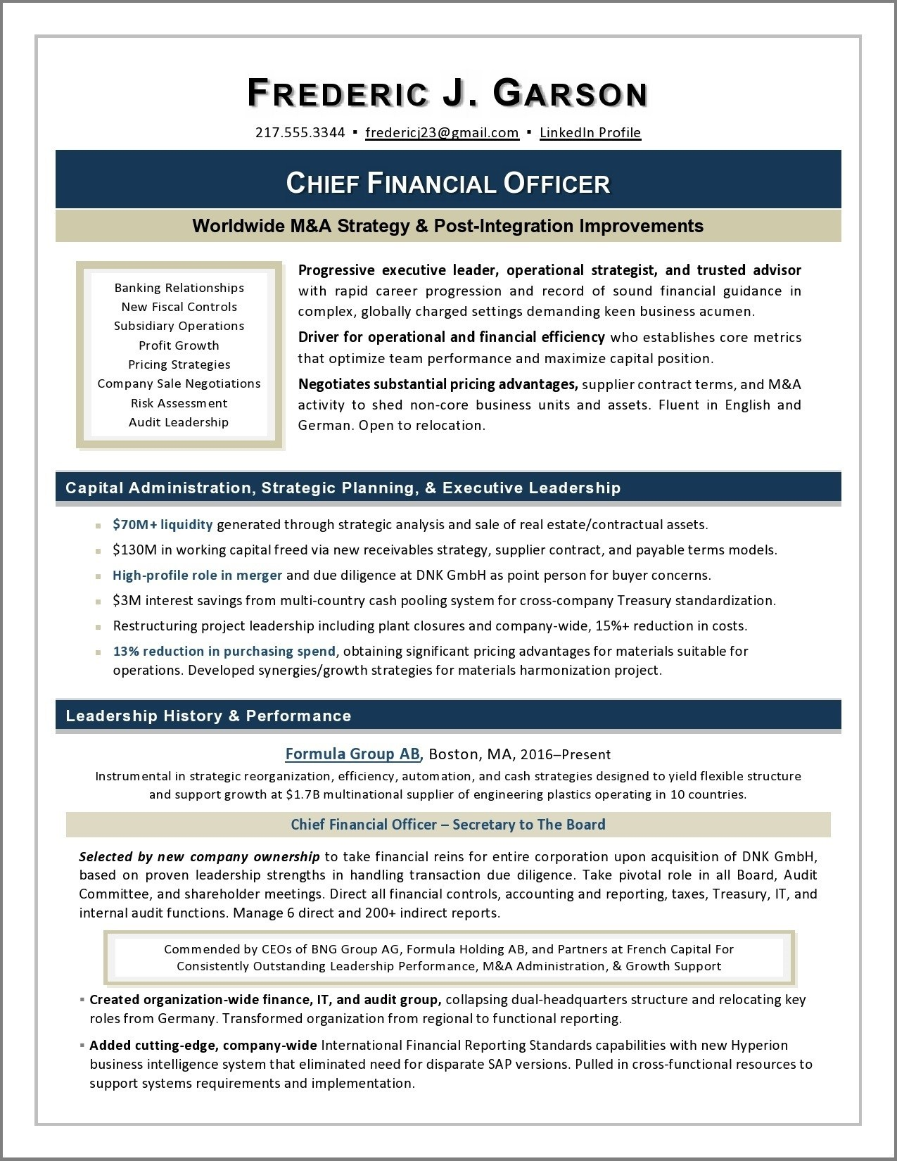 best executive resume writing services writers top writer global cfo by laura proulx Resume Top 10 Executive Resume Writers