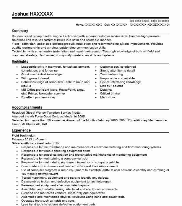 best field technician resume example livecareer telecommunications objective optical Resume Telecommunications Technician Resume Objective